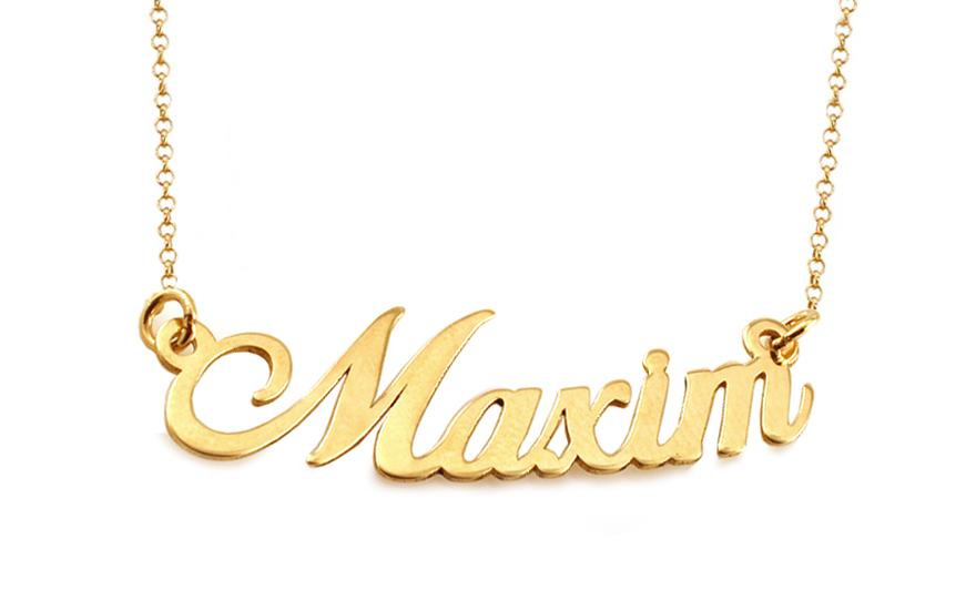27a81189b4 Zlatá retiazka s menom Maxim IZ9090
