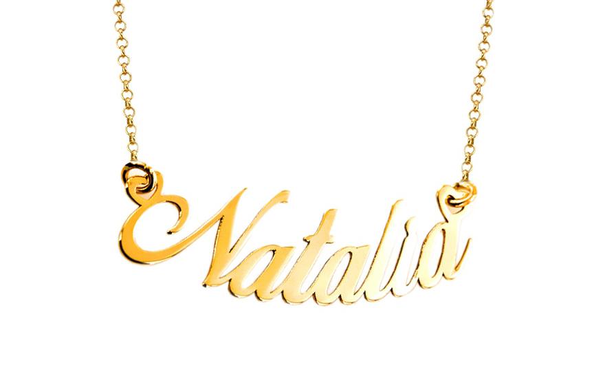 9c2ec851a Zlatá retiazka s menom Natalia IZ7886 | ZlatáHorúčka.sk