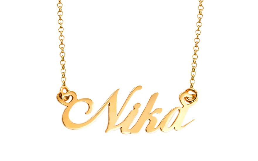 3f9fddd69c Zlatá retiazka s menom Nika IZ7580
