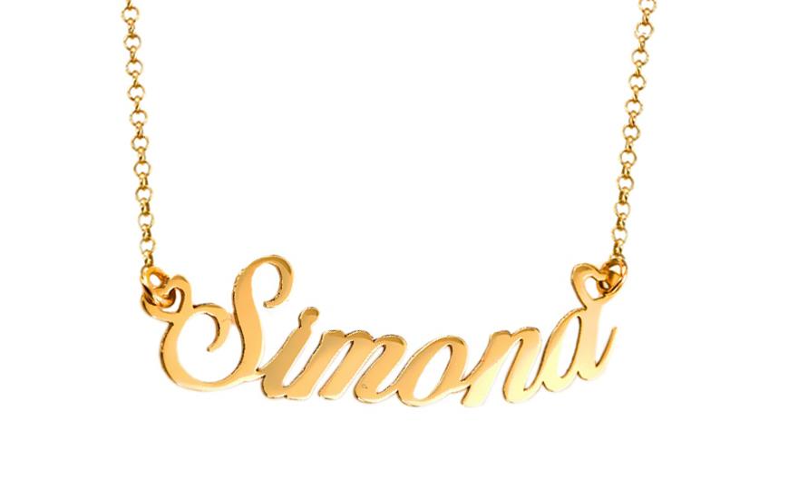 e21eb2f0fd Zlatá retiazka s menom Simona IZ7585