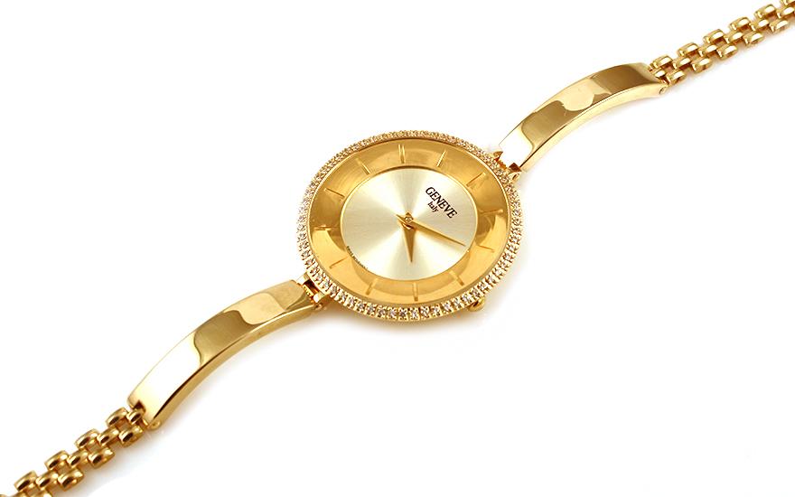 Zlaté dámske hodinky Geneve IZ9944  ef6556ff605