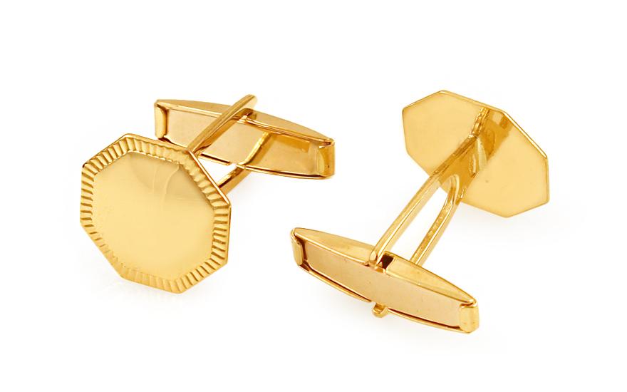581de938be7d Zlaté manžetové gombíky Osemhran s gravírom IZ11500