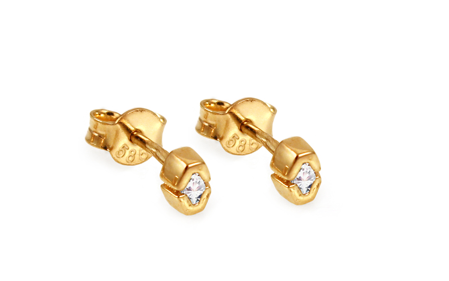8f0c55a33 Zlaté napichovacie naušnice so zirkónmi IZ10812 | ZlatáHorúčka.sk
