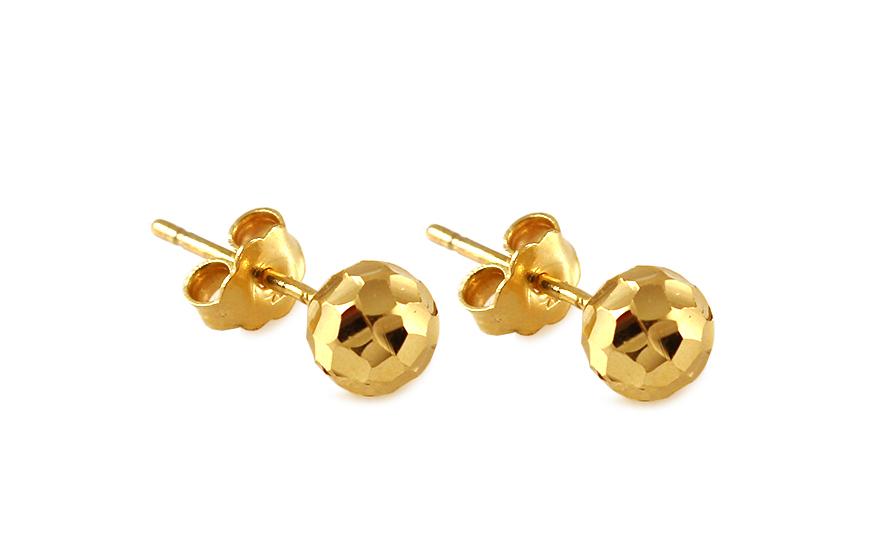 Zlaté náušnice guličky 6 mm IZ9271  8964f46a663
