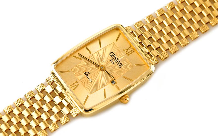 Zlaté pánske hodinky Gold watch Geneve IZ7737  1bd0018e0cc