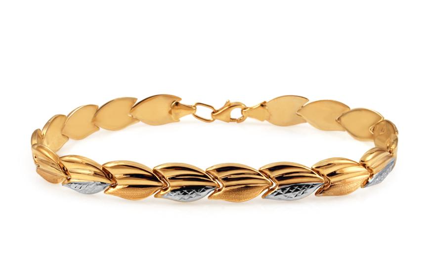 Zlatý dámsky dvojfarebný náramok IZ10913  74093622711