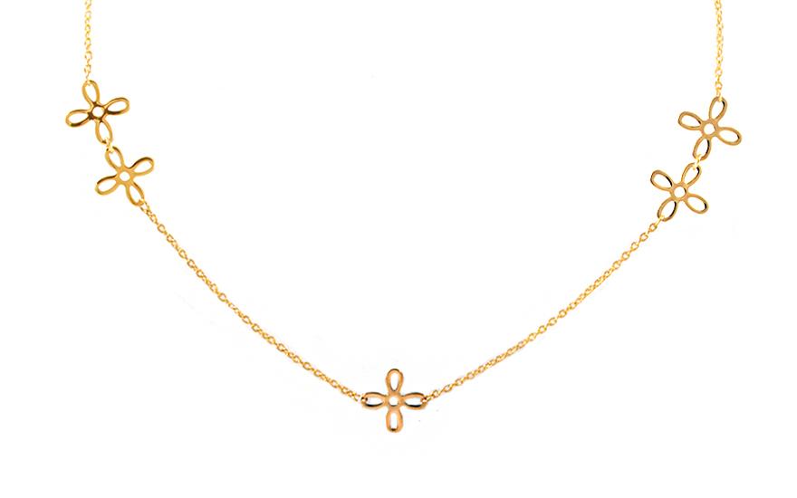 17e17aedd Zlatý dámsky náhrdelník IZ9820 | ZlatáHorúčka.sk