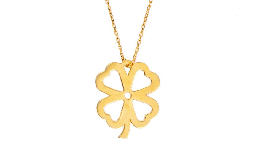 Zlatý dámsky náhrdelník Lucky 1 Celebrity IZ7108  de2127bd07d