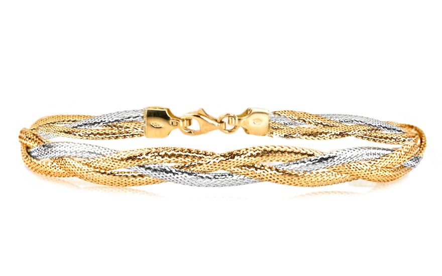 Zlatý dámsky náramok kolekcia Flexi IZ5424  6ba7f80f457