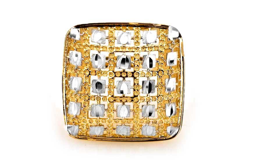 8b2dc568a Zlatý dámsky prsteň kombinovaný IZ6003   ZlatáHorúčka.sk