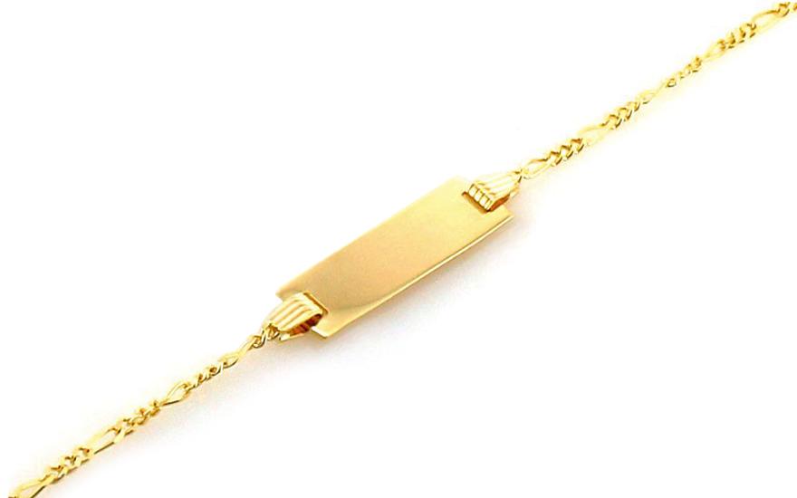 Zlatý detský náramok s platničkou IZ8259  57d440569c2