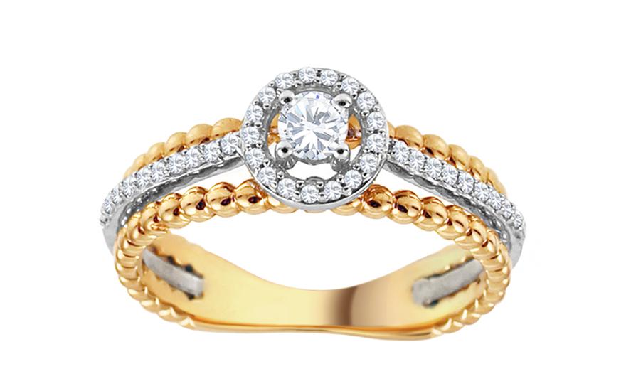 Zlatý diamantový prsteň Tianna KU551  9911142783c