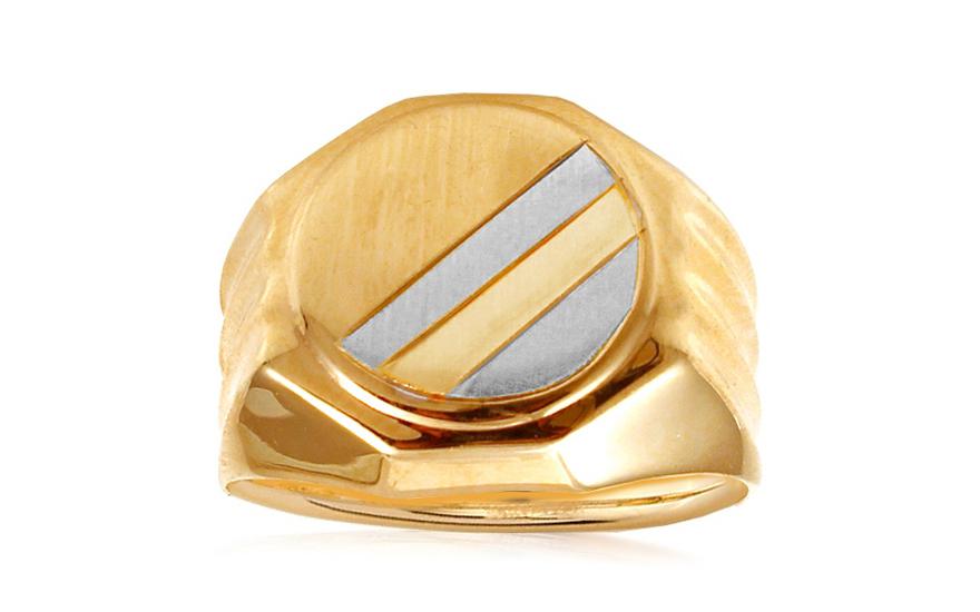 Zlatý dvojfarebný pánsky pečatný prsteň IZ10555C  b13d40ed30c