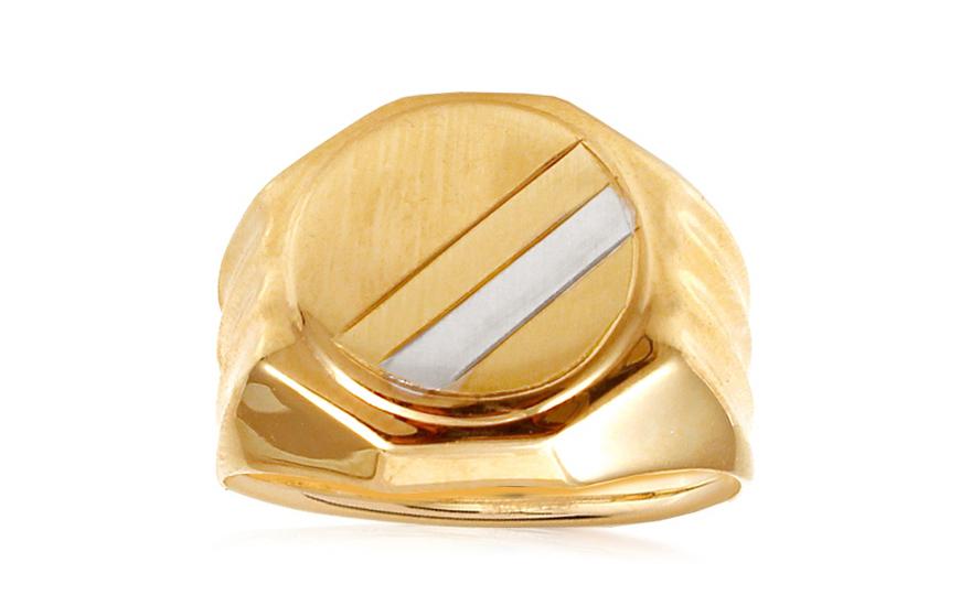 ae0d900b1 Zlatý dvojfarebný pánsky pečatný prsteň IZ10555E | ZlatáHorúčka.sk