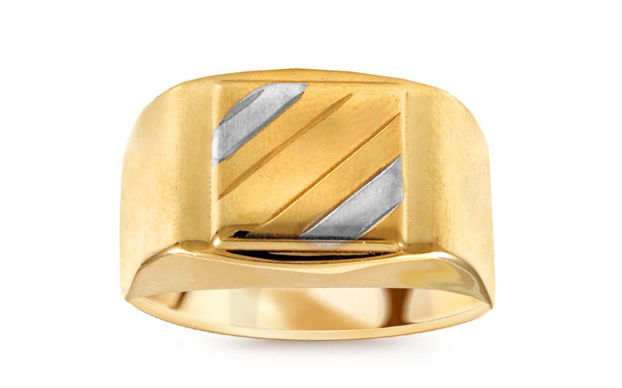91742f9b2 Zlatý dvojfarebný pánsky pečatný prsteň IZ10569A | ZlatáHorúčka.sk