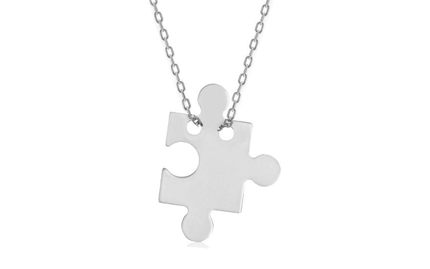 Zlatý náhrdelník Celebrity hviezd Puzzle IZ7654  88335d528e3