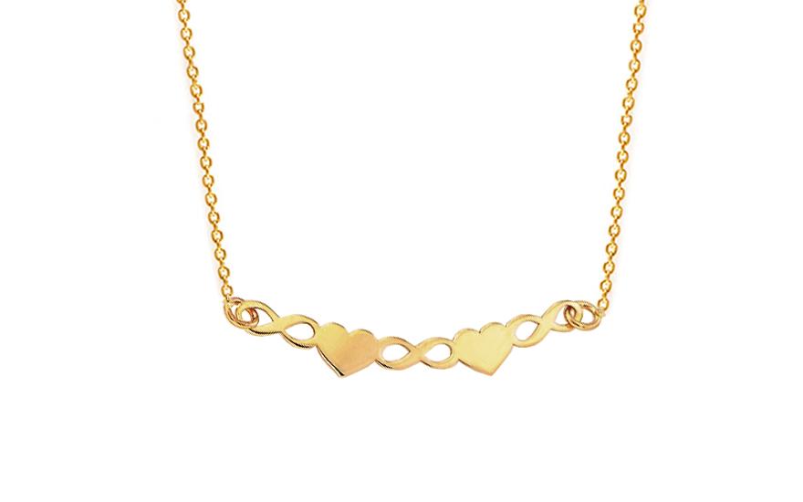 Zlatý náhrdelník Infinity Love IZ9240  97ad92b13c5