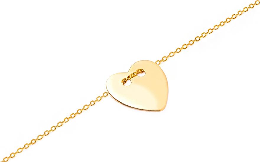 Zlatý náramok so srdiečkom Celebrity IZ8142  76901b6fb30