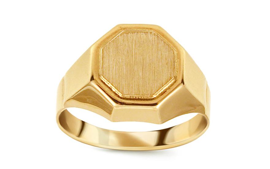 f4a857c34 Zlatý pánsky pečatný prsteň s matovaním IZ11512 | ZlatáHorúčka.sk