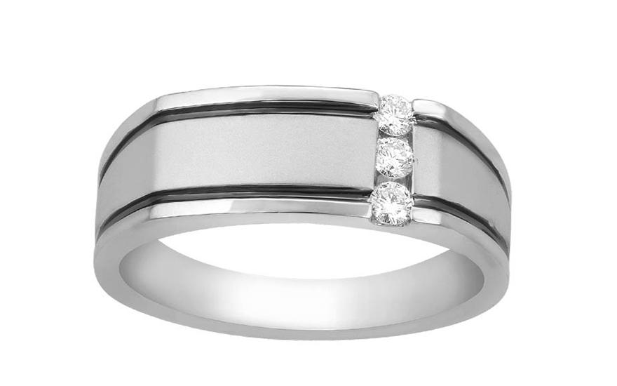 Zlatý pánsky prsteň s diamantmi KU468  fdc0a0c1468