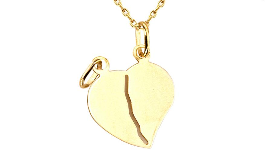 Zlatý prívesok na gravírovanie Srdce pre dvoch IZ4632  9f0d8f5f0c8