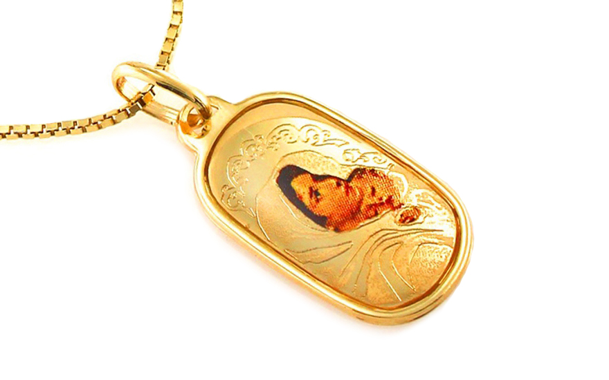 Zlatý prívesok Panna Mária s Ježiškom IZ8425  b2d43cec62a