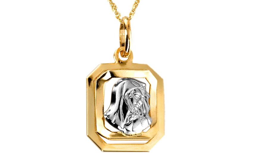Zlatý prívesok Panny Márie IZ6074  15e572726d7