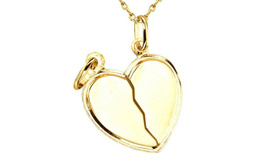 7b1b0b921 Zlatý prívesok srdce pre dvoch IZ4633 | ZlatáHorúčka.sk