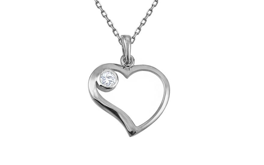 Zlatý prívesok srdce so zirkónom IZ10450A  ecacd70001f