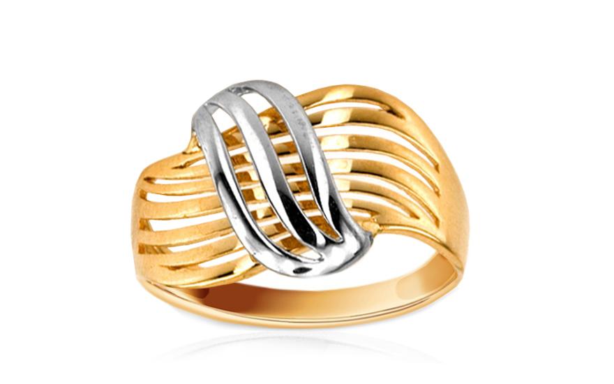 7d0ddaa98 Zlatý prsteň kombinované zlato IZ6280   ZlatáHorúčka.sk