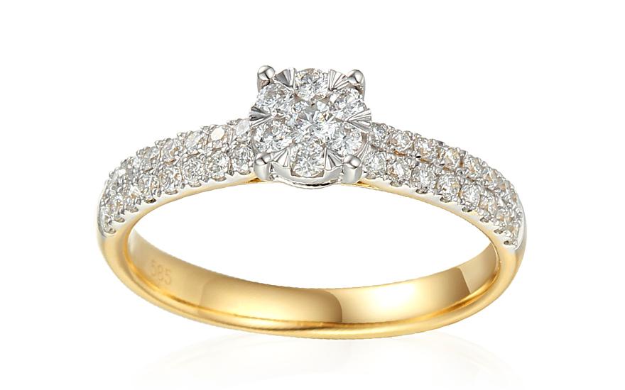 Zlatý zásnubný diamantový prsteň 0.490 ct Elizeth IZBR351 ... 7174f84ade4