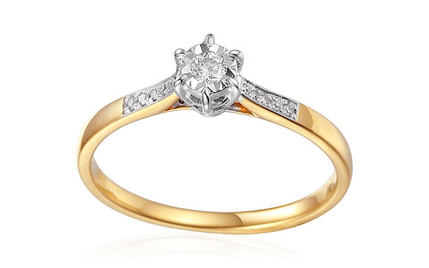 Zlatý zásnubný prsteň s diamantmi 0.110 ct Preia IZBR354 ... e21cf72689b