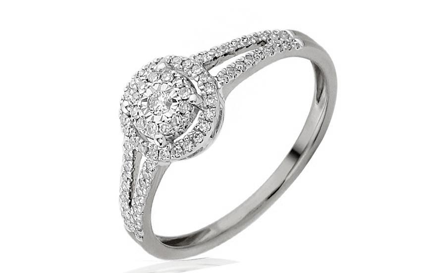 a654b083e Zlatý zásnubný prsteň s diamantmi Maia white IZBR243A | ZlatáHorúčka.sk