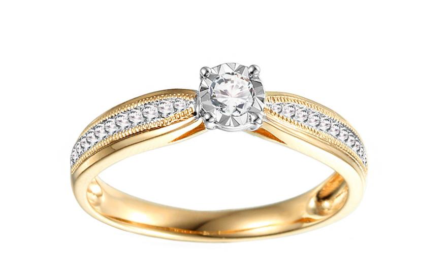 6230526e8 Zlatý zásnubný prsteň s diamantmi Maya 2 IZBR041Y | ZlatáHorúčka.sk