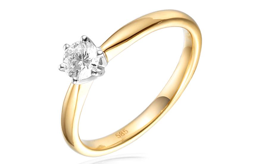54d15f95f Zlatý zásnubný prsteň s diamantom Giulia IZBR260 | ZlatáHorúčka.sk
