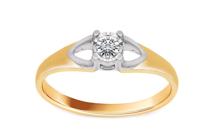 5f0307b3d Zlatý zásnubný prsteň s diamantom Marisa KU536 | ZlatáHorúčka.sk