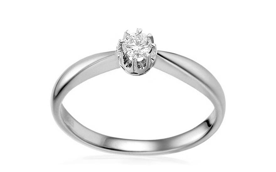 8fe1b6cac Zlatý zásnubný prsteň s diamantom Odetta white IZBR150A ...