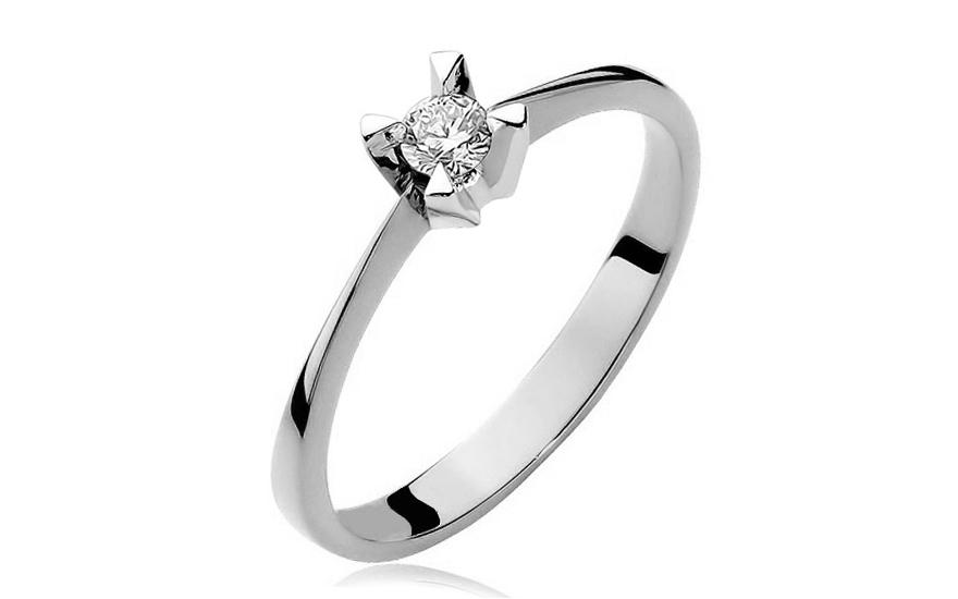 14fd4d5d6 Zlatý zásnubný prsteň s diamantom Pallavi white BSBR034A ...