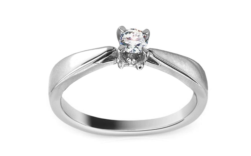 4d7fa25ce Zlatý zásnubný prsteň s diamantom Rania KU384A | ZlatáHorúčka.sk
