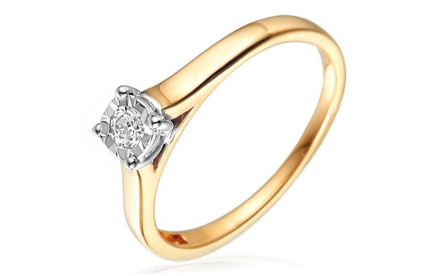 d91d2f82e Zlatý zásnubný prsteň s diamantom Sanie IZBR050 | ZlatáHorúčka.sk