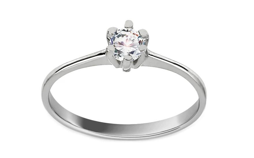 Zlatý zásnubný prsteň s diamantom Talia white BSBR053  ff4bd1965d4