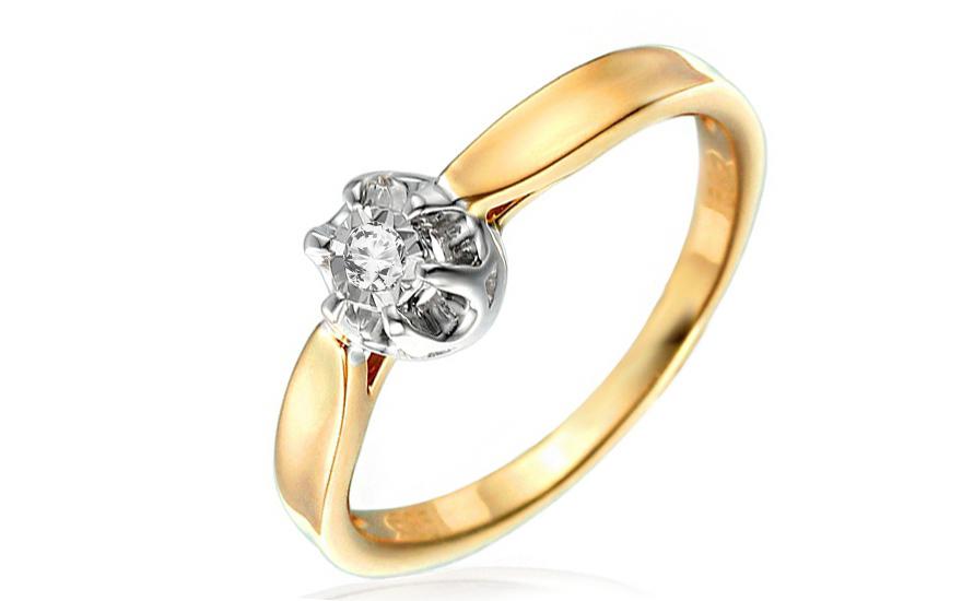 5f0e87f63 Zlatý zásnubný prsteň s diamantom Willa IZBR046 | ZlatáHorúčka.sk